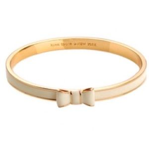 Kate Spade Cream and Gold Take a Bow Bracelet